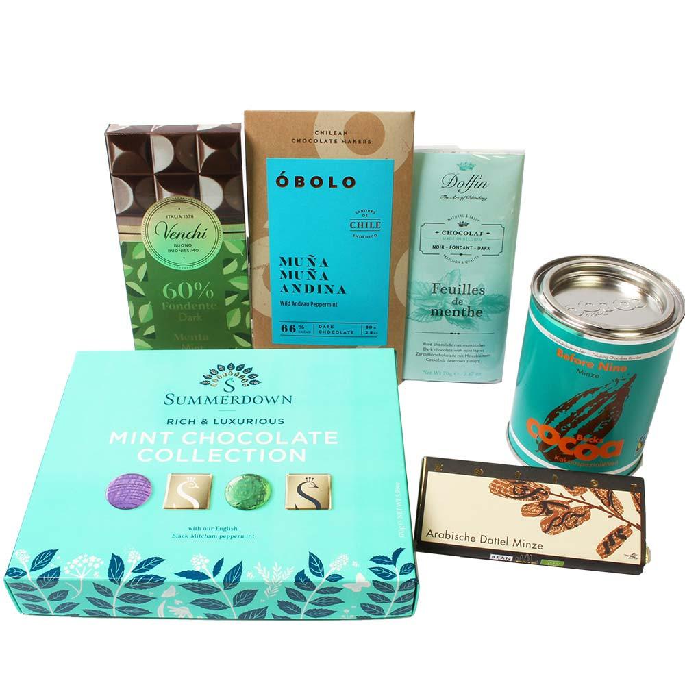 Alles Minze - alles Grün - Schokoladen mit Minze - Schokolade mit Minze - Chocolats-De-Luxe