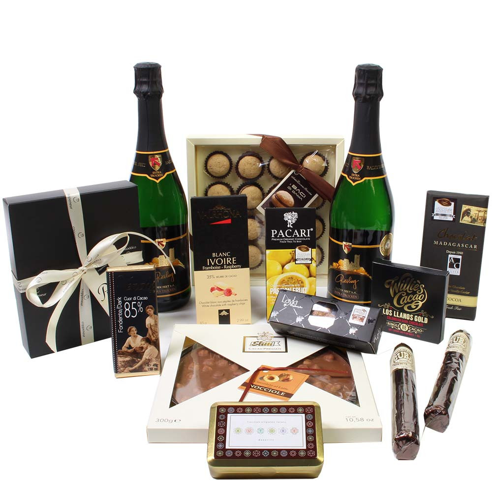 Flavor fireworks with chocolate and sparkling wine -  - Chocolats-De-Luxe