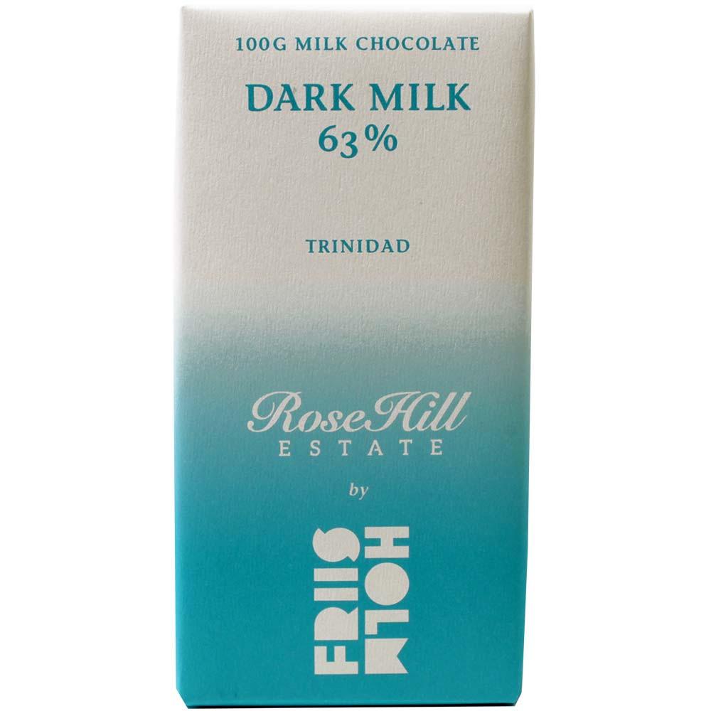 Latte Fondente 63% - Tavola di cioccolato, cioccolato senza glutine, cioccolato senza lecitina, Danimarca, cioccolato danese, cioccolato al latte - Chocolats-De-Luxe