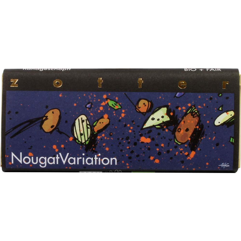 NougatVariation dunkle Milchschokolade mit Nougat - Barras de chocolate, sin alcohol, sin gluten, Austria, chocolate austriaco, Chocolate con almendras - Chocolats-De-Luxe