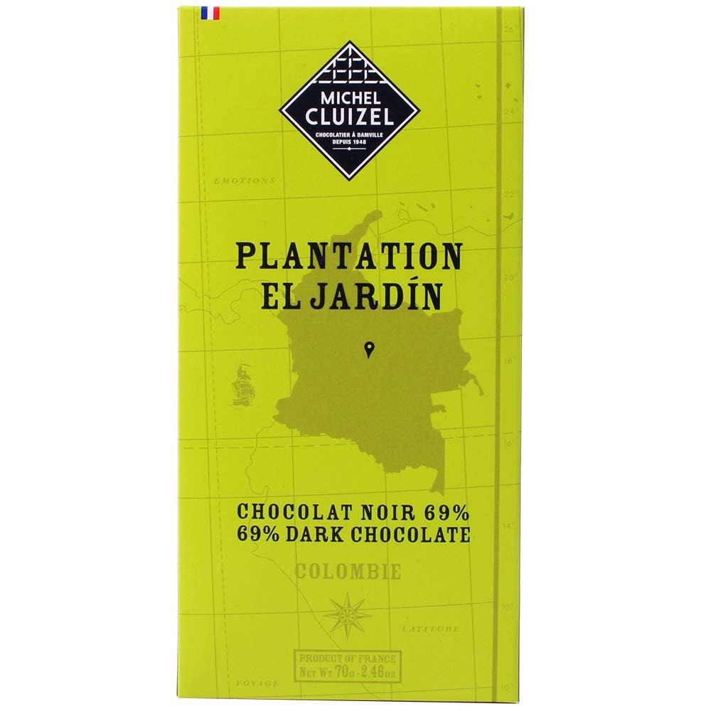 Plantation El Jardin Colombie Dunkle Schokolade 69% - Tablette de chocolat, chocolat sans lécithine, chocolat sans soja, sans arômes artificiels / additifs, végan-amicale, France, chocolat français, Chocolat avec sucre - Chocolats-De-Luxe