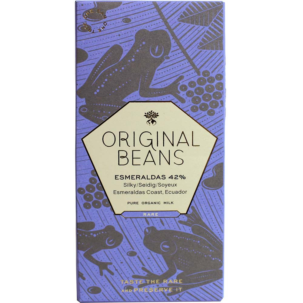 Esmeraldas Milk 42% BIO milk chocolate with fleur de sel - Bar of Chocolate, gluten free chocolate, lecithin free chocolate, Switzerland, Swiss chocolate, Chocolate with salt - Chocolats-De-Luxe