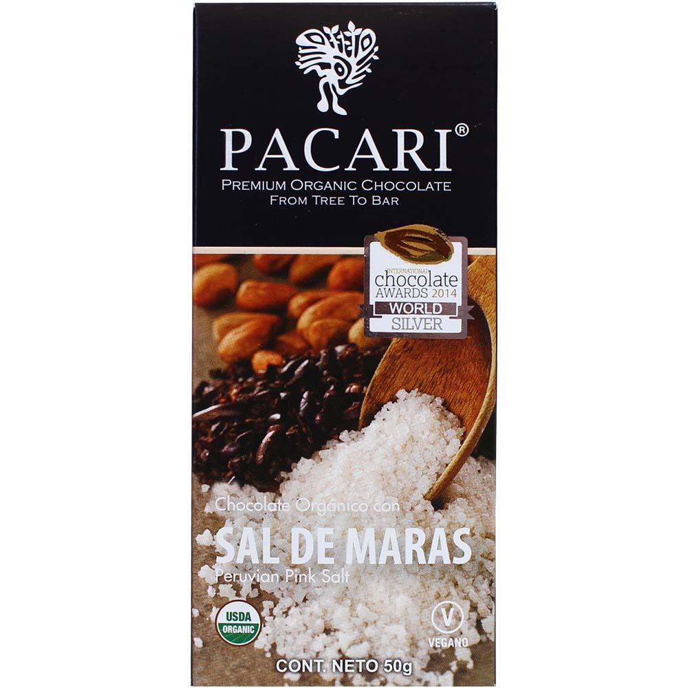 Chocolate BIO 60% Sal de Maras - Barras de chocolate, chocolate sin gluten, chocolate vegano, Ecuador, chocolate ecuatoriano, Chocolate con sal - Chocolats-De-Luxe