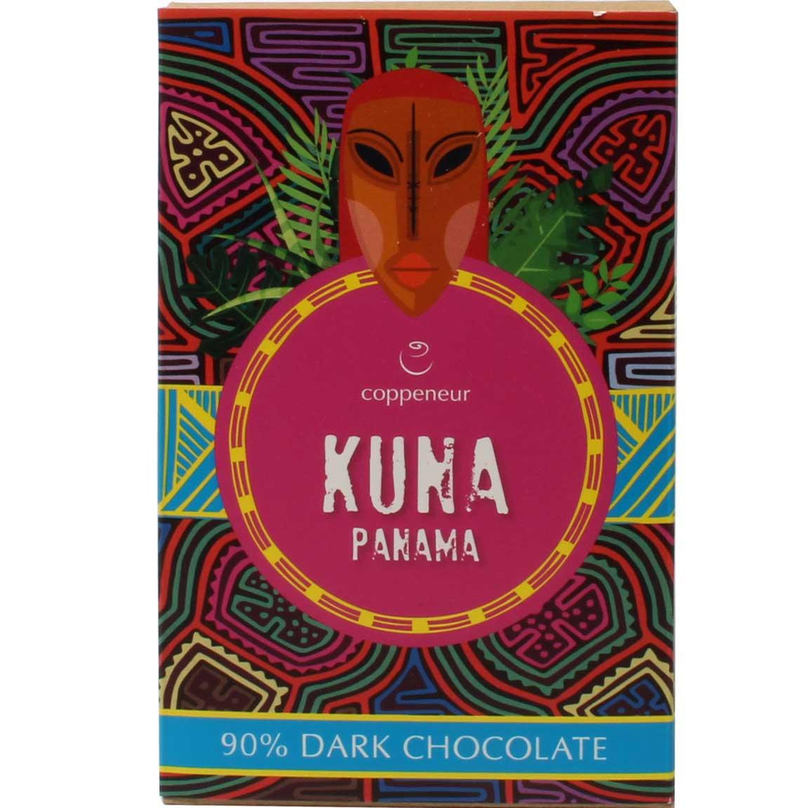 Kuna Panamá 90% chocolate oscuro - Barras de chocolate, Alemania, chocolate alemán - Chocolats-De-Luxe
