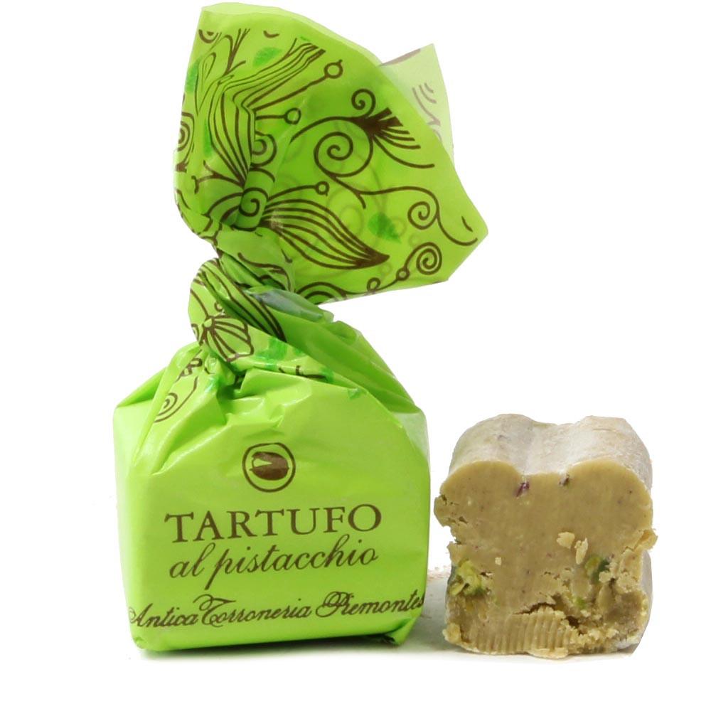 Tartufo, Trüffel, Pistazie, Pistacchio, , Fingerfood dolce, Tartufo , Italia, cioccolato italiano , cioccolato al pistacchio, Cioccolato con nocciola , verde , Cioccolato senza alcol, cioccolato senza glutine , Nocciola, Pistacchi , - Chocolats-De-Luxe