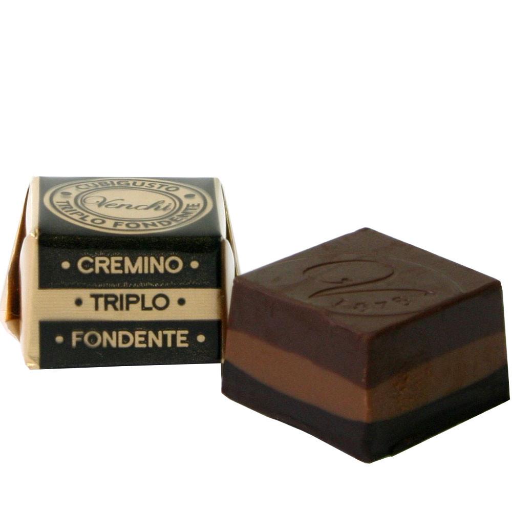 Nougat, gianduja, dark chocolate, chocolat noir,
