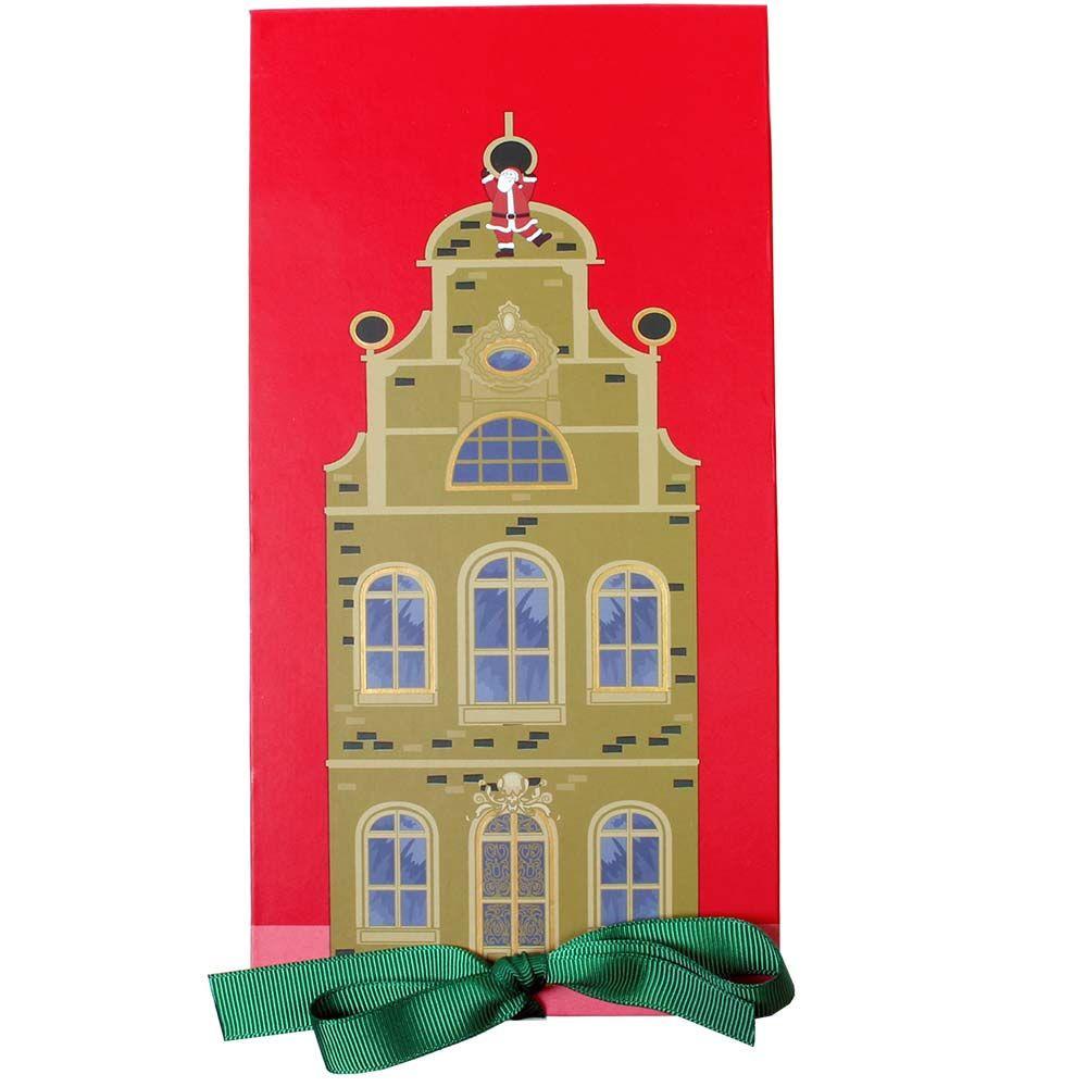 Caja de bombones navideños en el casco antiguo - Bombones, Chocolate sin alcohol, sin sabores artificiales / aditivos, Alemania, chocolate alemán, Chocolate con almendras - Chocolats-De-Luxe
