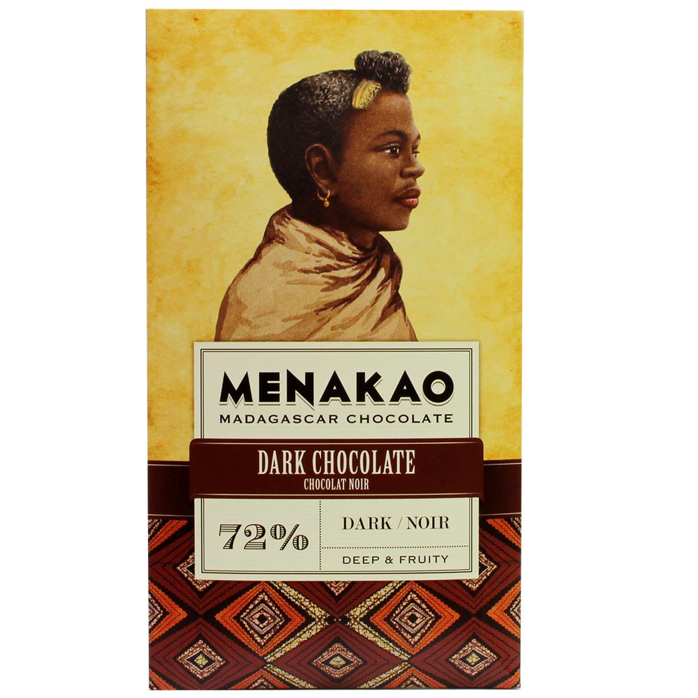 72% Dark Chocolate from Trinitario Cacao - Bar of Chocolate, suitable for vegetarians, vegan-friendly, Madagascar, Madagascan chocolate, Chocolate with sugar - Chocolats-De-Luxe
