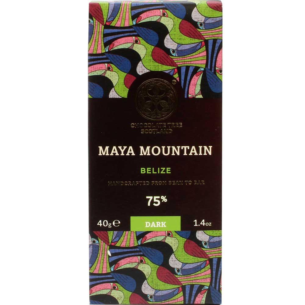Maya Mountain 75% Belize - dunkle Schokolade - Barras de chocolate, vegan-amigable, Escocia, chocolate escocés, chocolate puro sin ingredientes - Chocolats-De-Luxe