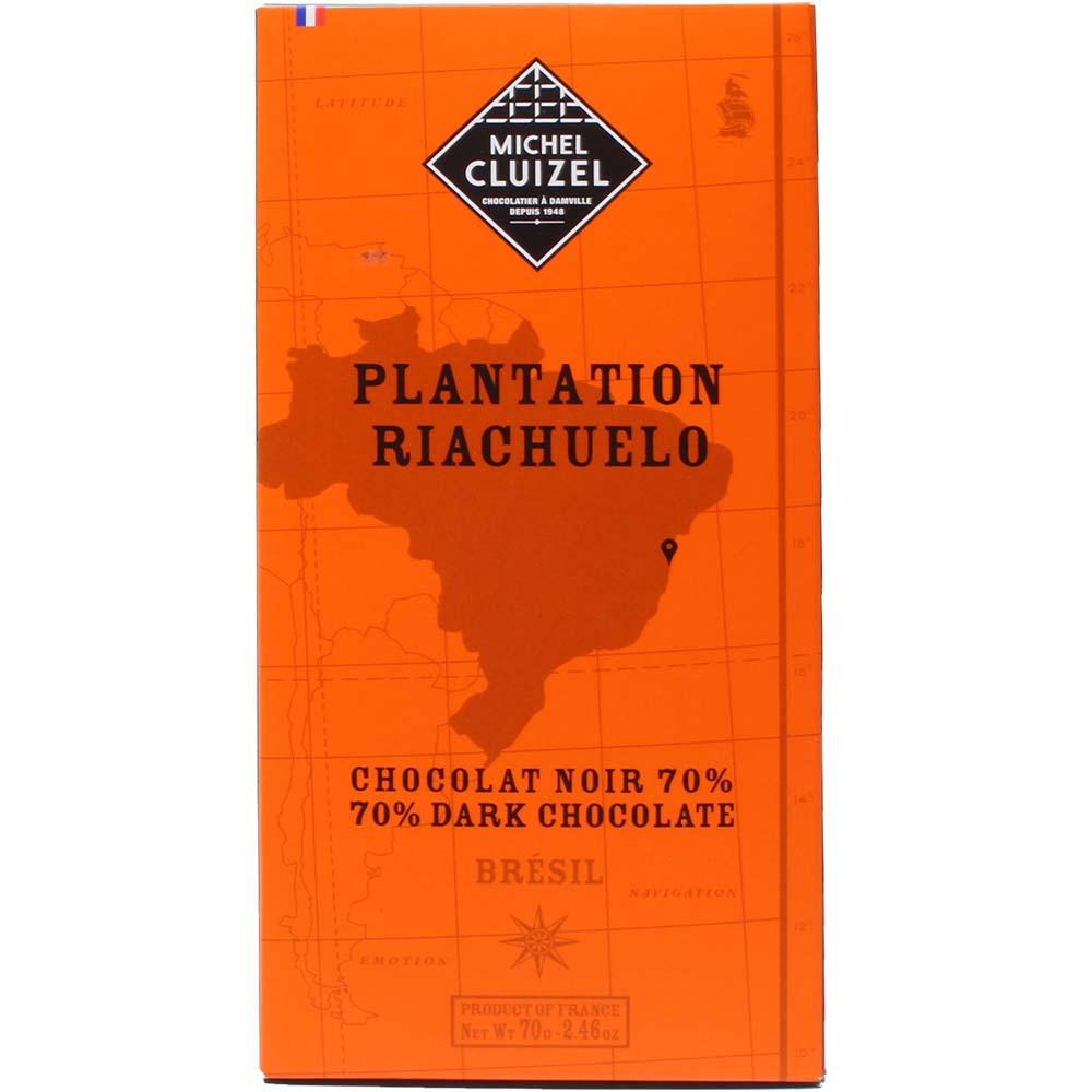 Plantage Riachuelo Brazilië Pure Chocolade 70% Schokolade dunkle - Chocoladerepen, sojavrije chocolade, veganistvriendelijk, zonder kunstmatige smaakstoffen/additieven, Frankrijk, Franse chocolade - Chocolats-De-Luxe