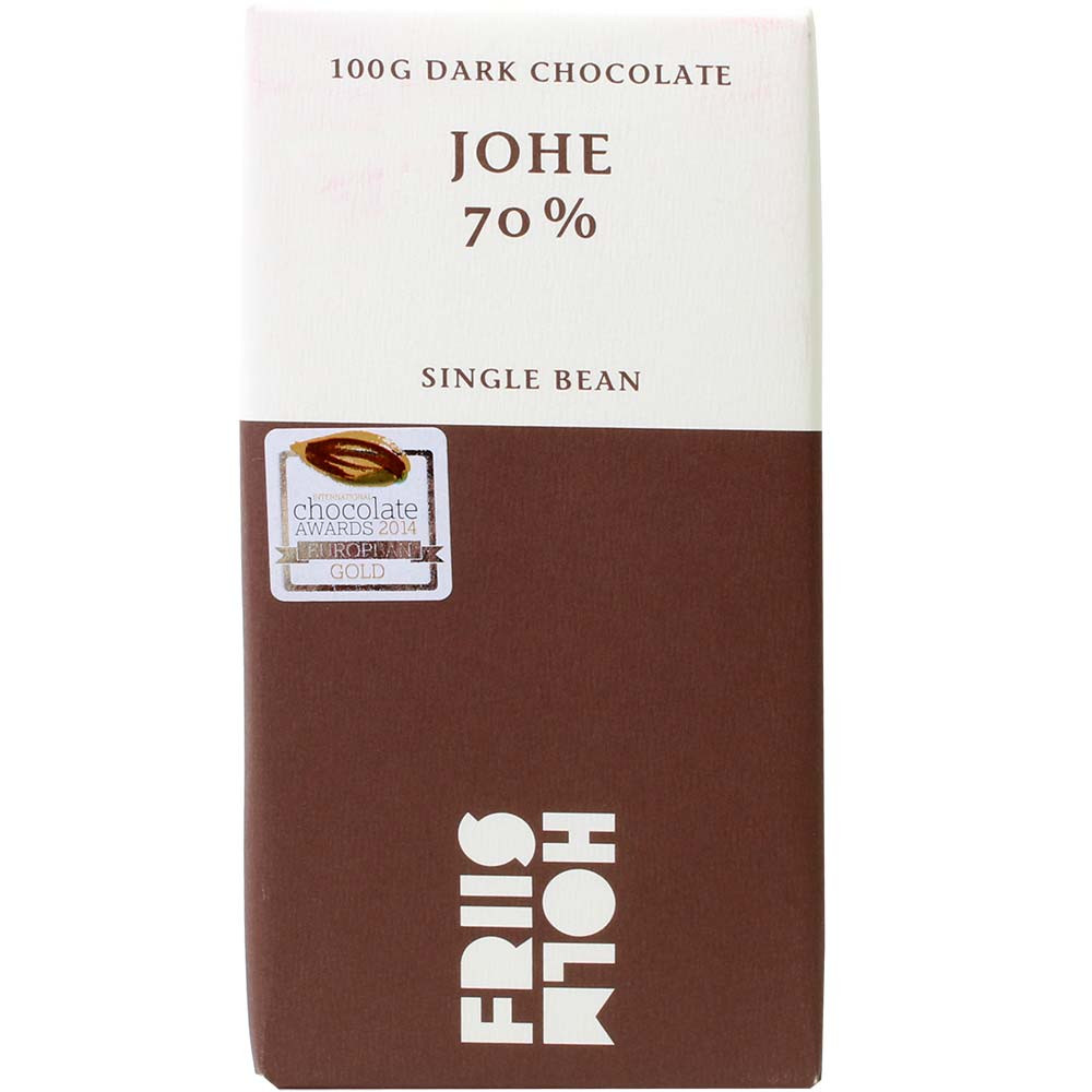 Johe 70% Chocolate de frijol , Barras de chocolate , chocolate oscuro , Nicaragua , Cioccolato dall'America Centrale , 70 % , Cacao en grano Criollo , Chocolate Bean-To-Bar, Chocolate Single Origin, Chocolate origen único , Dinamarca, chocolate danés , marrón , Comercio directo, Chocolate Comercio justo , chocolate sin gluten, chocolate sin lecitina, chocolate sin soja, vegan-amigable , Bean-To-Bar Plata - Intern. Chocolate Awards, Bronce del Mundo - Intern. Chocolate Awards, Oro regional - Intern. Chocolate Awards , Banderola, Etiqueta adhesiva , Cera de abejas , Cassis , chocolateado, oscuro cremoso , Cacao , - Chocolats-De-Luxe