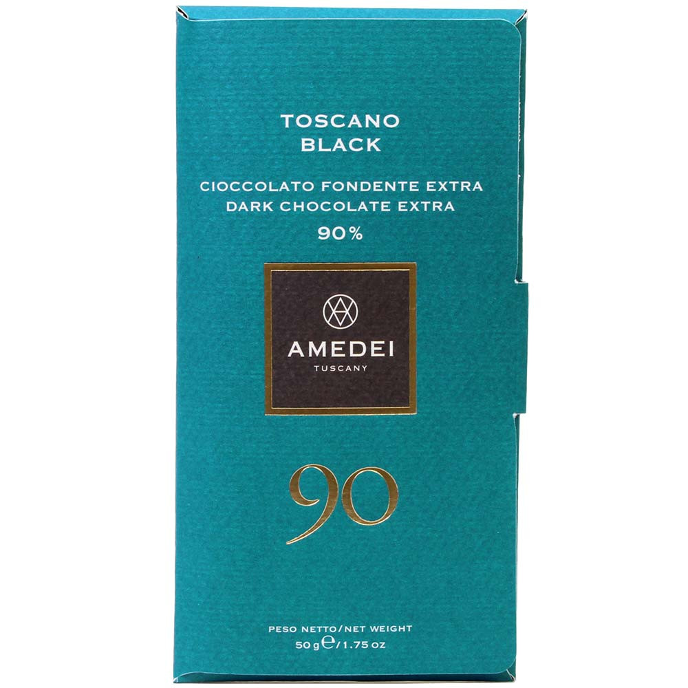 Toscano Black 90% chocolate negro - Barras de chocolate, chocolate sin gluten, chocolate sin lecitina, Italia, chocolate italiano, Chocolate con azúcar - Chocolats-De-Luxe