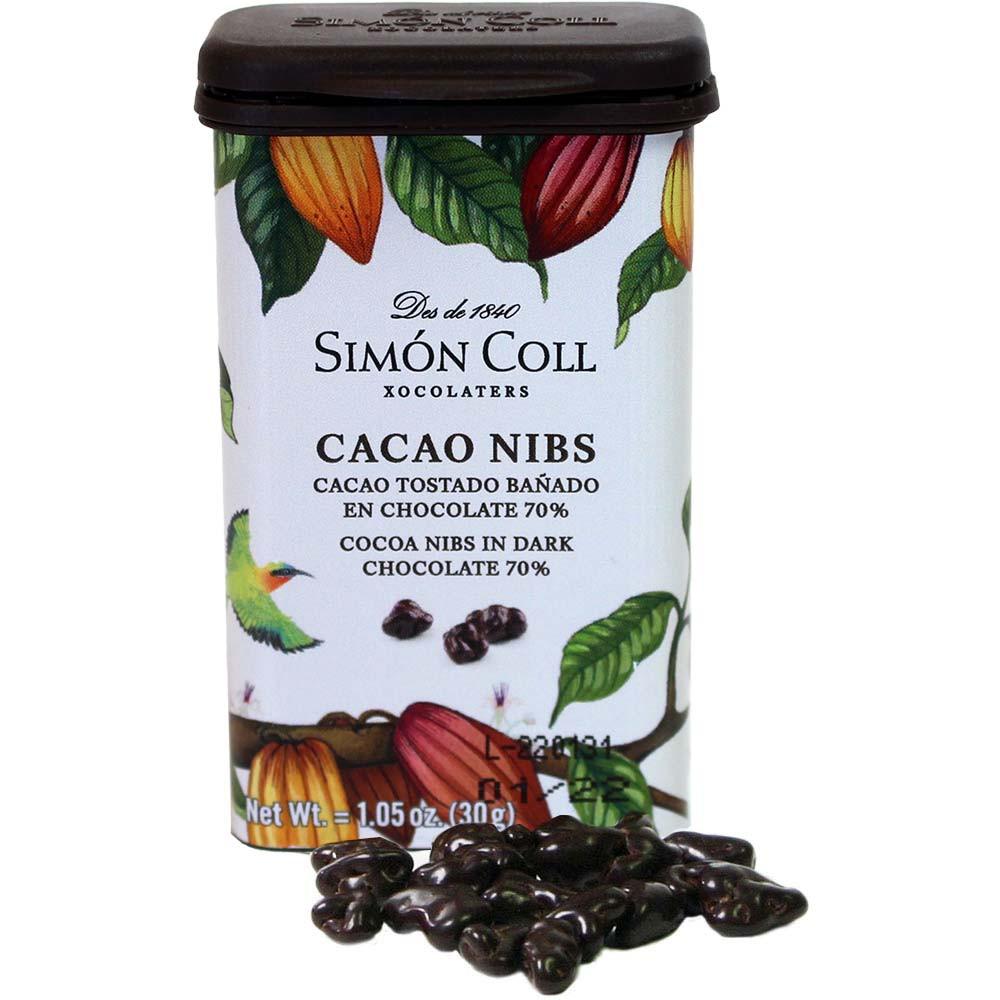Cacao Nibs - Fèves de cacao enrobées de chocolat - Enrobage de chocolat, Espagne, chocolat espagnol - Chocolats-De-Luxe