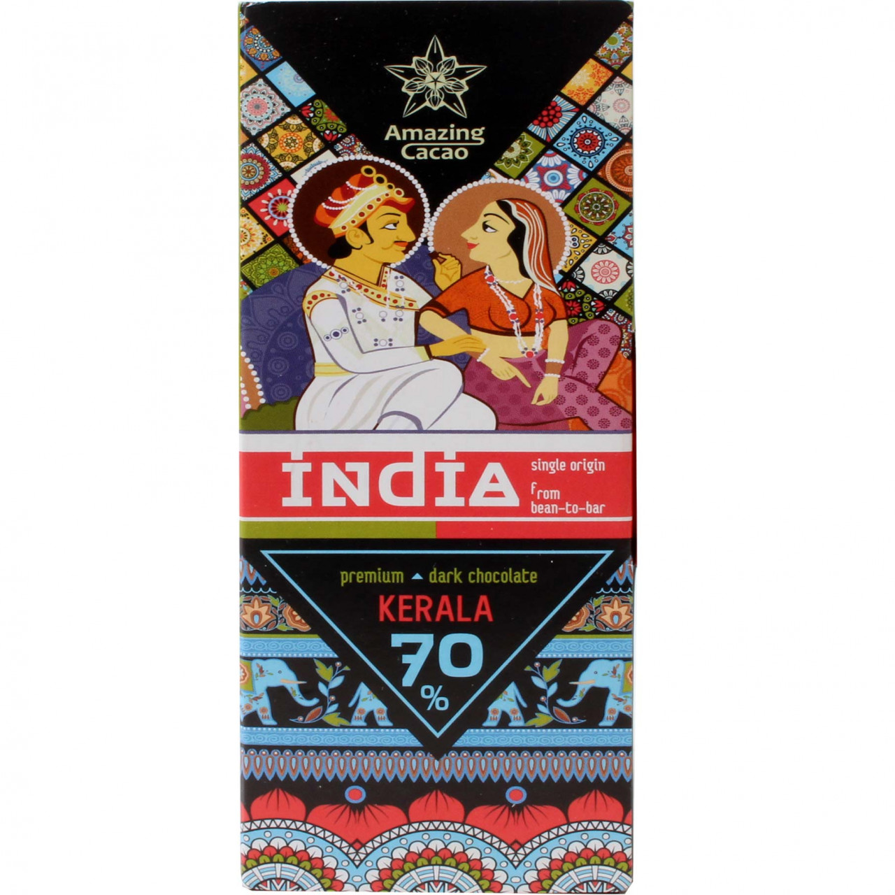 Kerala India 70% dunkle Premium Schokolade - Barras de chocolate, Rusia, chocolate ruso, chocolate puro sin ingredientes - Chocolats-De-Luxe
