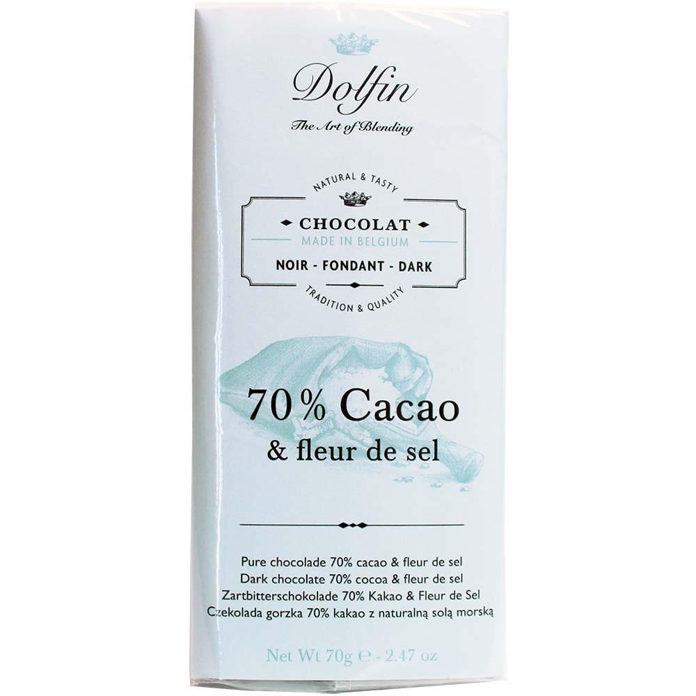 70% cacao & fleur de sel - chocolate negro y flor de sal - Barras de chocolate, Bélgica, belga Chocolate, Chocolate con sal - Chocolats-De-Luxe