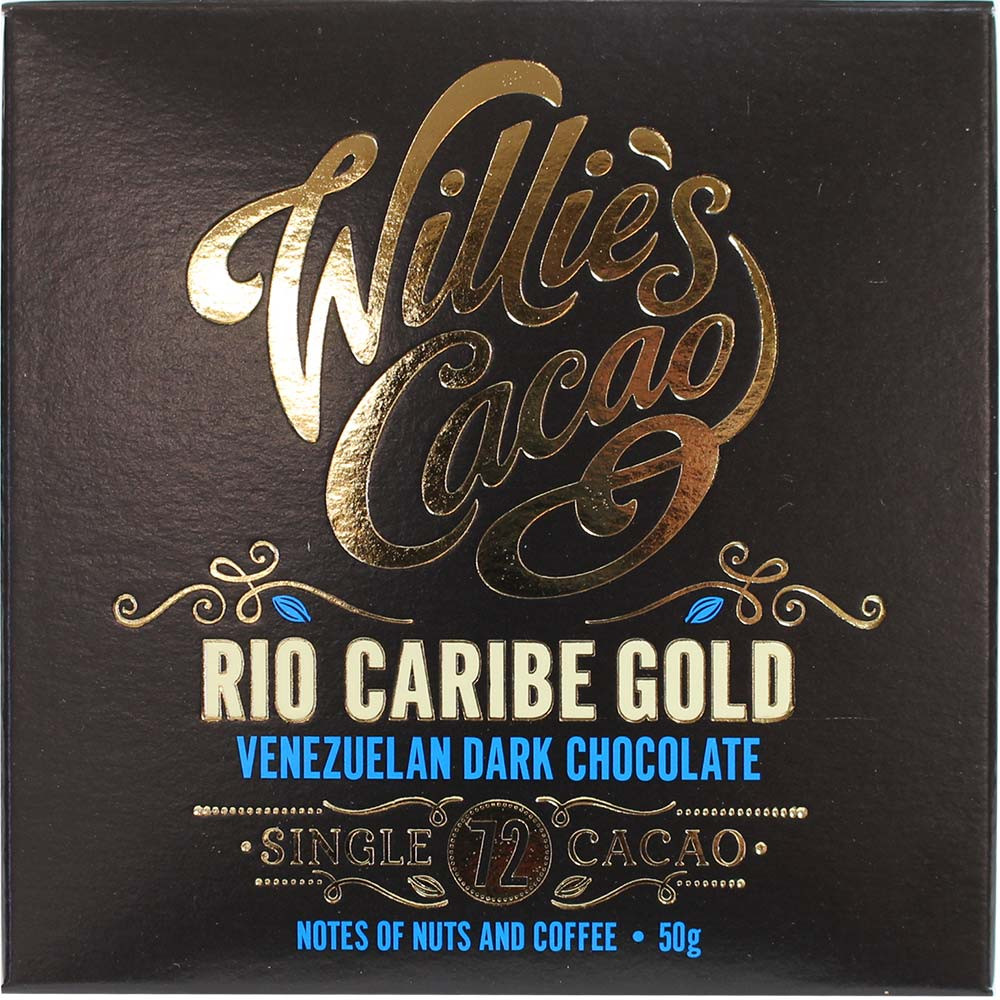 Rio Caribe Gold - 72% Zartbitterschokolade - Bar of Chocolate, lecithin free chocolate, England, english chocolate, Chocolate with sugar - Chocolats-De-Luxe