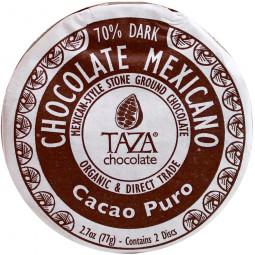Cacao Puro 70% - dunkle Schokolade auf Stein gemahlen