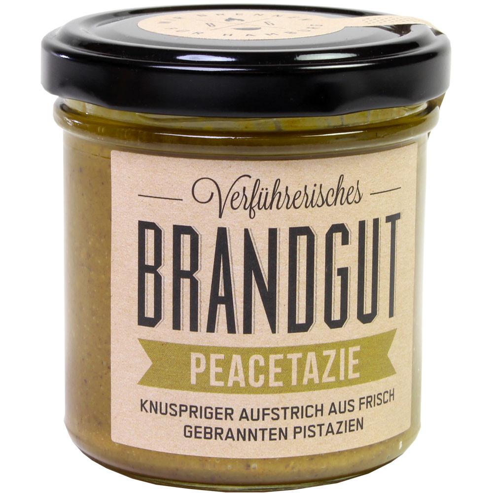 Pistaziencreme, Pistazienaufstrich, Aufstrich vegan, Brotaufstrich, Nussaufstrich, Nutella, Nut spread, Peanutbutter, Erdnussbutter, -  - Chocolats-De-Luxe