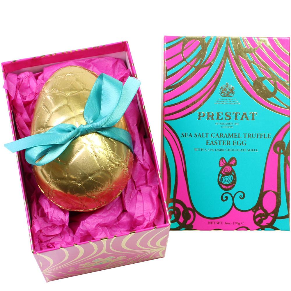 Schokoladen osterei, dunkle Schokolade, Karamell Trüffel, Sea Salt Caramels, London, Easter Egg,