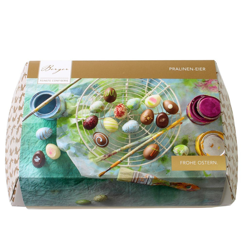 Carton d'oeufs de Pâques avec 12 oeufs de Pâques en chocolat sans alcool - $seoKeywords- Chocolats-De-Luxe