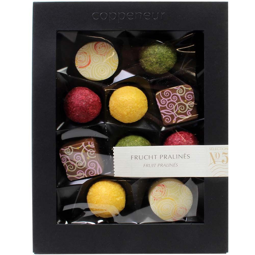 Fruit pralines No 5 without alcohol - alcohol free Chocolate - Chocolats-De-Luxe