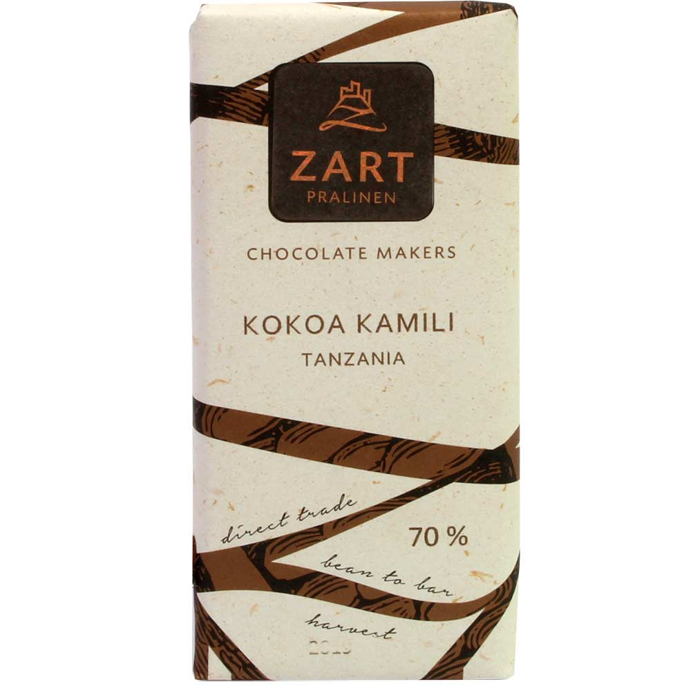 70% ZART Kokoa Kamili Tanzania Schokolade - Bar of Chocolate, Austria, austrian chocolate, Chocolate with sugar - Chocolats-De-Luxe