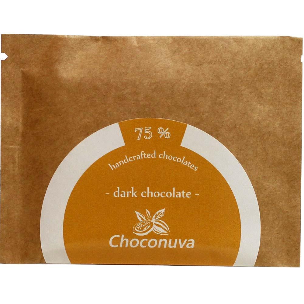 Dark Chocolate 75%  Criollo Columbia Zartbitter Schokolade - Barras de chocolate, chocolate sin lactosa, vegan-amigable, Alemania, chocolate alemán - Chocolats-De-Luxe