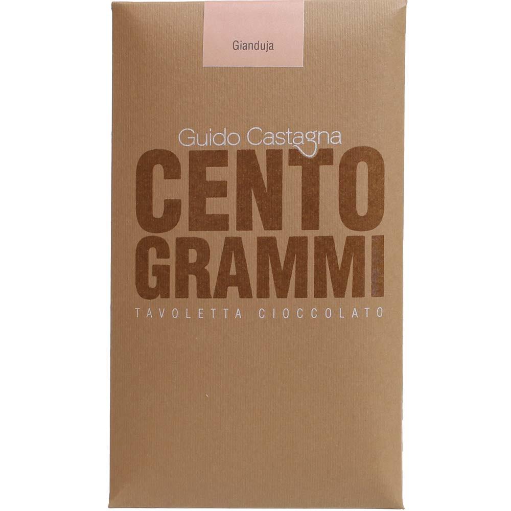 Gianduja - nougat chocolate 38% Cento Grammi - Bar of Chocolate, gluten free chocolate, Italy, italian chocolate, chocolate with nougat, nougat chocolate - Chocolats-De-Luxe