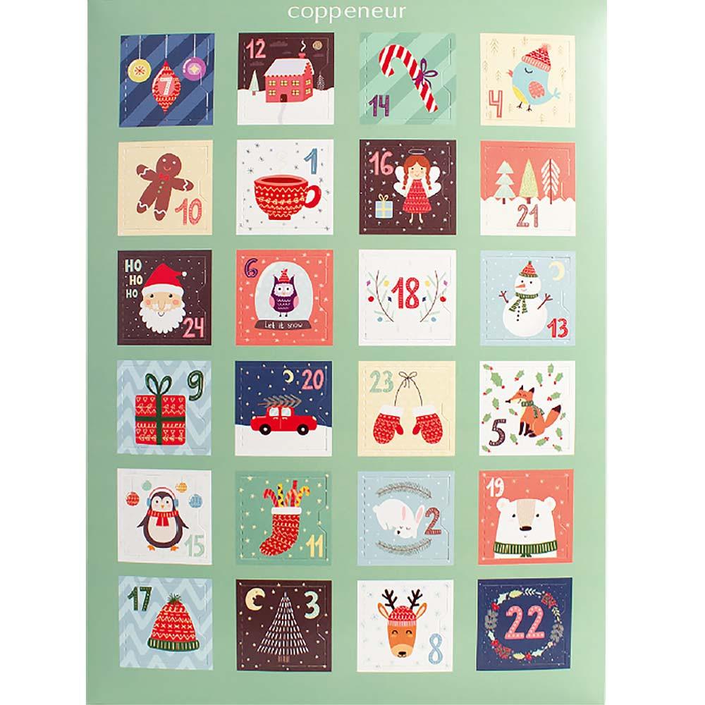 Calendario dell'Avvento Nicola con ripieno di praline e tartufi - Calendario dell'avvento, Cioccolatini, Cioccolato senza alcol, Germania, cioccolato tedesco, cioccolato al lampone, cioccolato al lampone - Chocolats-De-Luxe