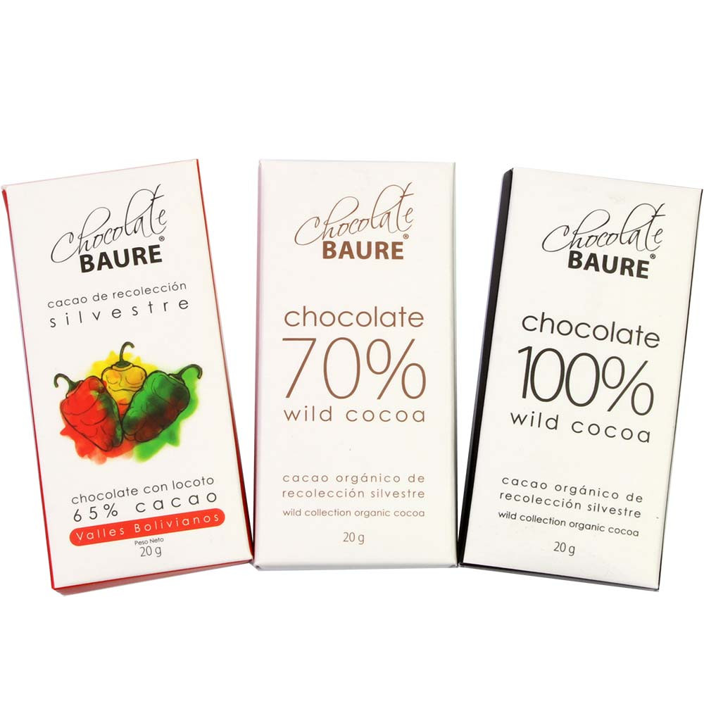 Chocolate Tasting Set - 3 bars from Baure