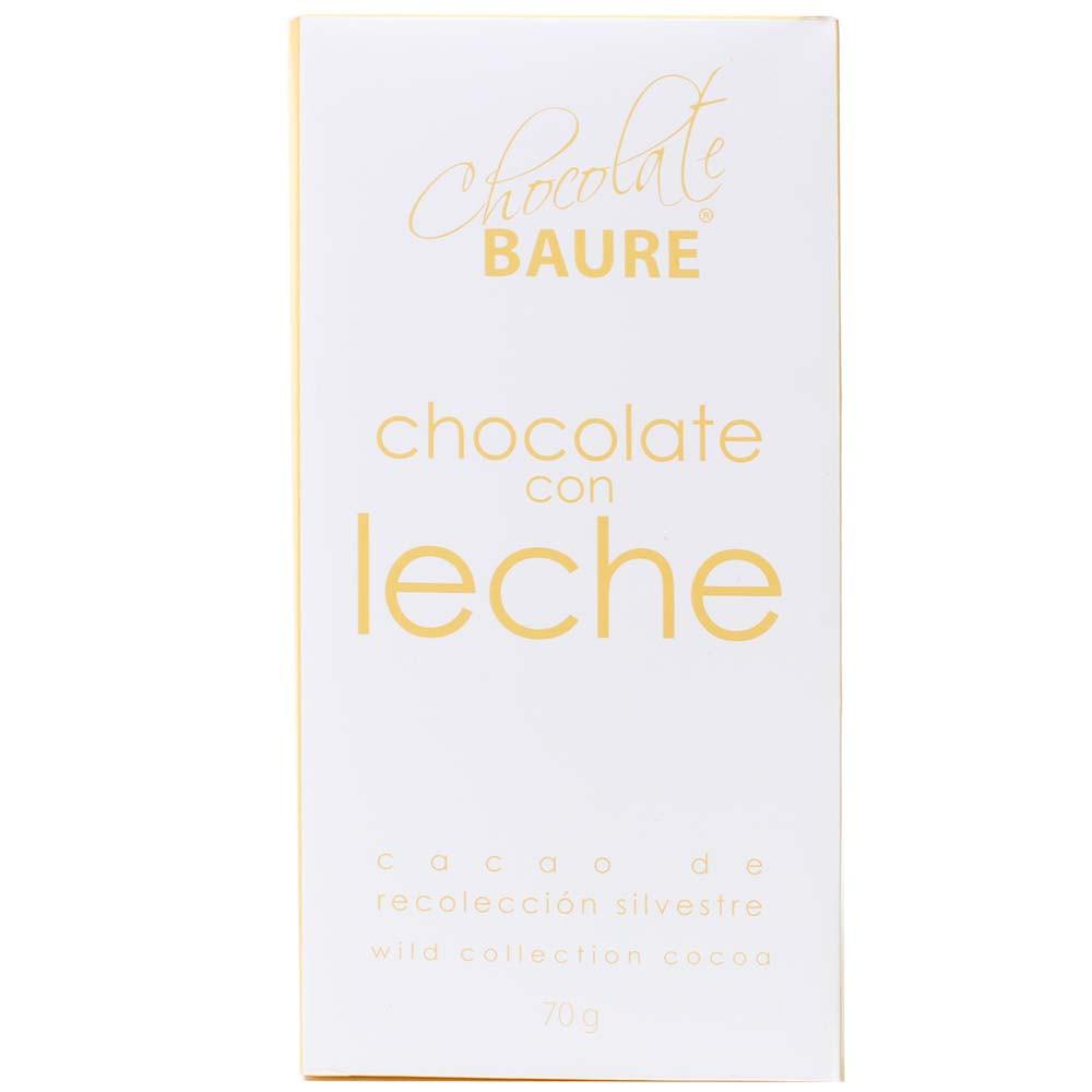 Chocolat au cacao sauvage con leche - chocolat au lait - Tablette de chocolat, Bolivie, chocolat bolivien, chocolat au lait - Chocolats-De-Luxe