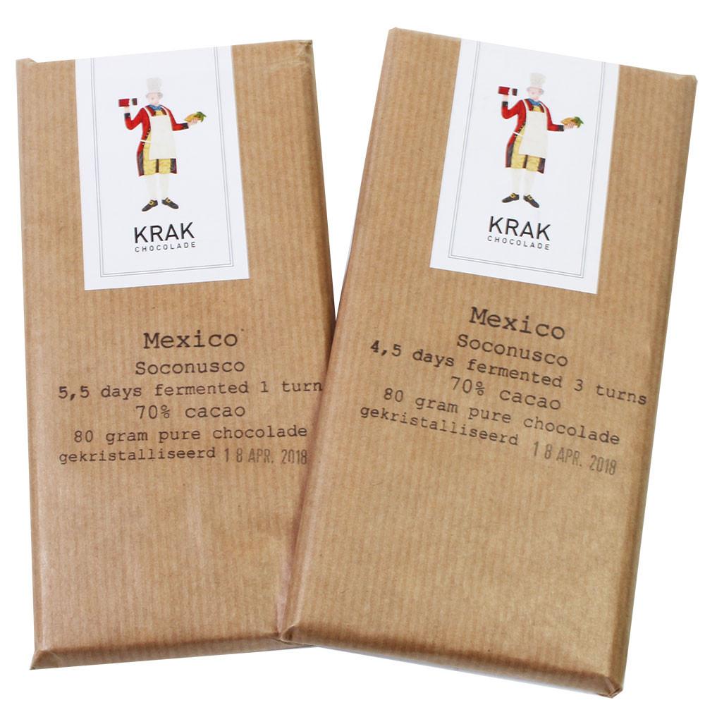 2 repen 70% Mexico Soconusco verschillende fermentatie