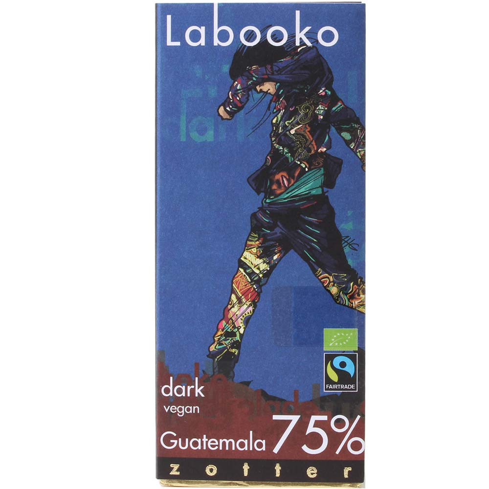 Labooko 75% Guatemala pure biologische chocolade - Chocoladerepen, veganistische chocolade, Oostenrijk, Oostenrijkse chocolade - Chocolats-De-Luxe