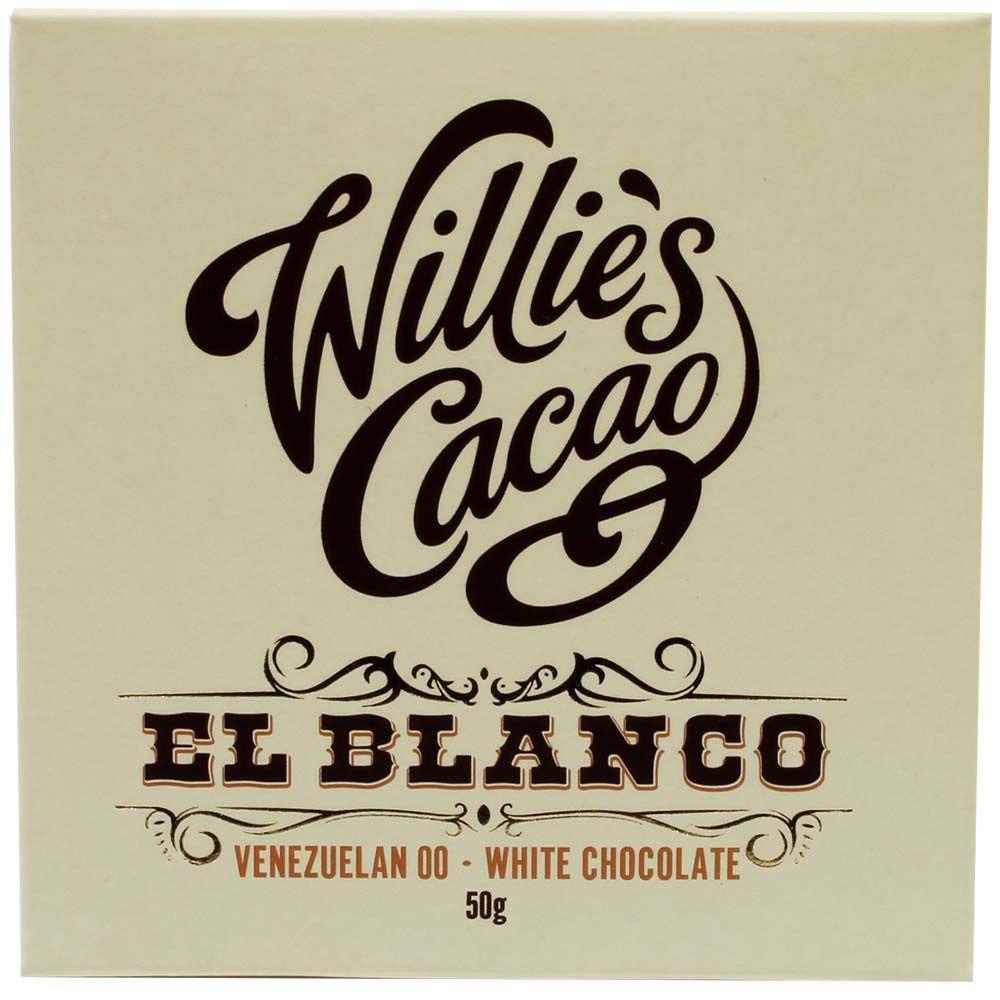 El Blanco, Willies Cacao, weisse Schokolade, chocolats-de-luxe
