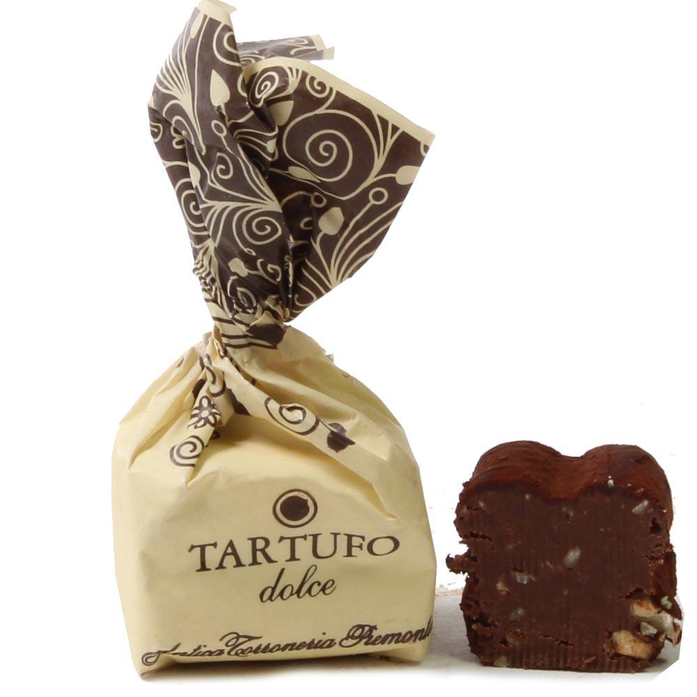 Tartufo, Haselnuss, nocciole, , Fingerfood dolce, Tartufo , Italia, cioccolato italiano , Cioccolato con nocciola , crema , Cioccolato senza alcol, cioccolato senza glutine , Nocciola , - Chocolats-De-Luxe