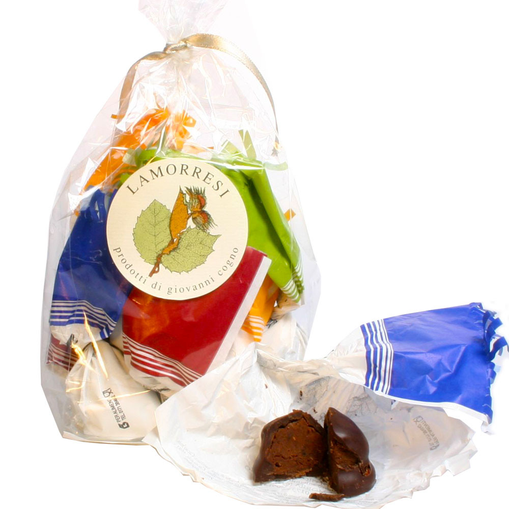 Pralinen, alkoholhaltig, Grappa, Italien, Rum, Barolo                                                                                                                                                    - Italië, Italiaanse chocolade, Chocolade met alcohol - Chocolats-De-Luxe