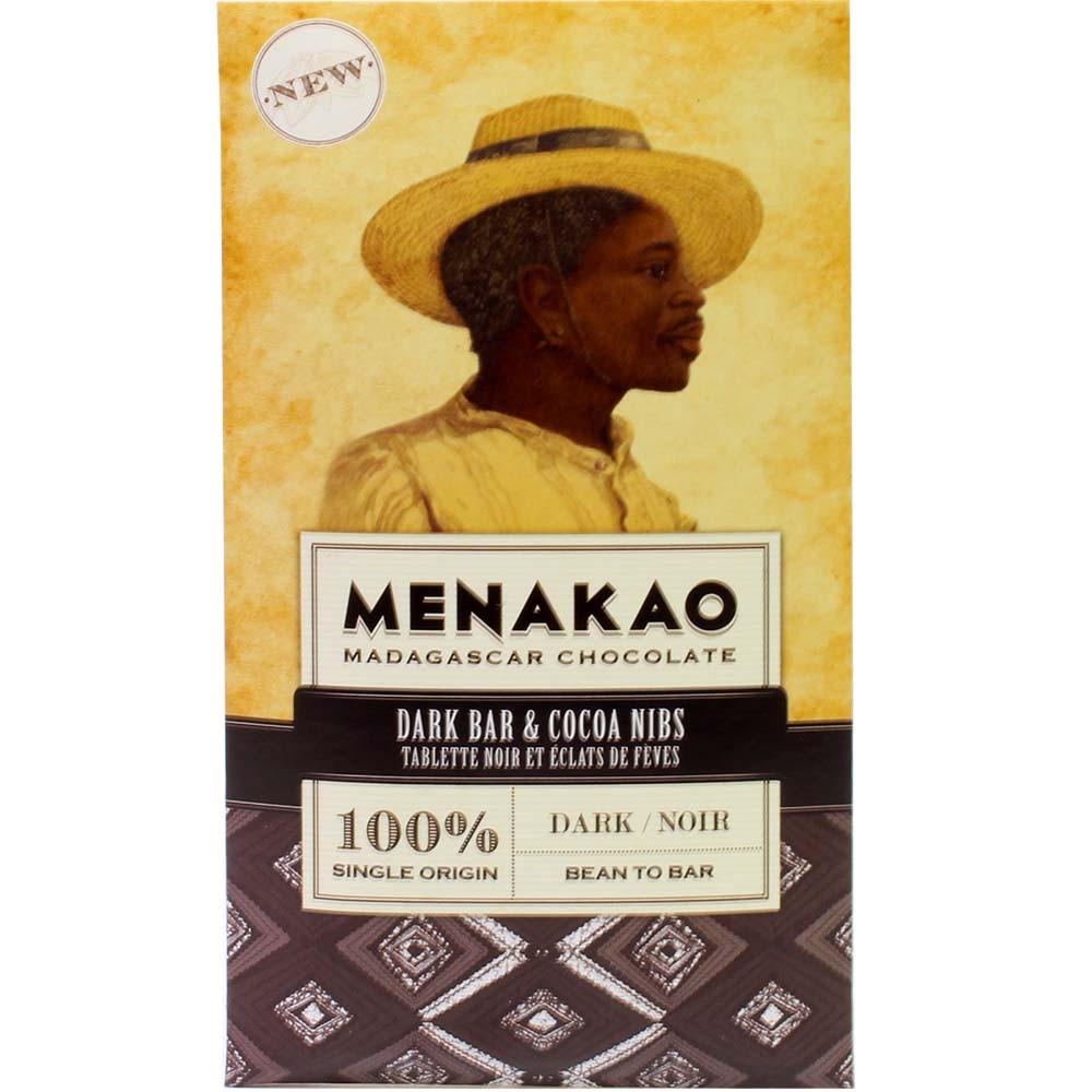 100% Dark Chocolate - Trinitario - Bar of Chocolate, sugar free chocolate, suitable for vegetarians, vegan-friendly, Madagascar, Madagascan chocolate, Chocolate with cocoa /-nibs - Chocolats-De-Luxe