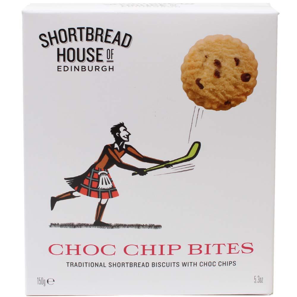 Choc Chip Bites - Buttergebäck mit Schokoladen Stückchen aus Schottland -  - Chocolats-De-Luxe