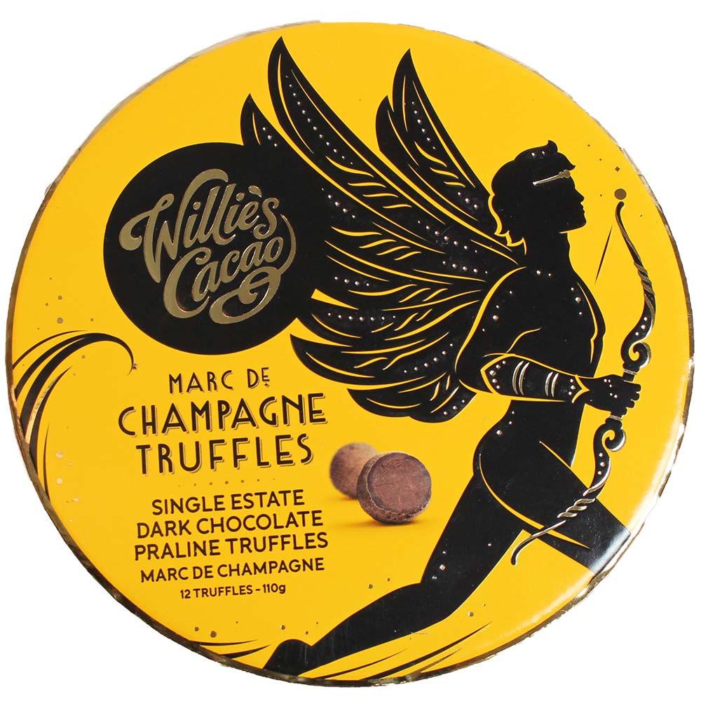 Coffret Marc de Champagne Truffes au chocolat noir - Truffe, Angleterre, chocolat anglais, Chocolat au Champagne - Chocolats-De-Luxe