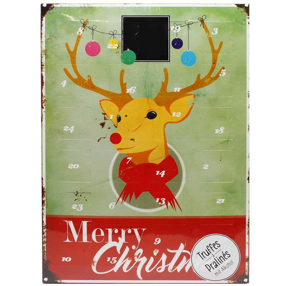 Calendario dell'Avvento Il cervo chiama Buon Natale con l'alcol
