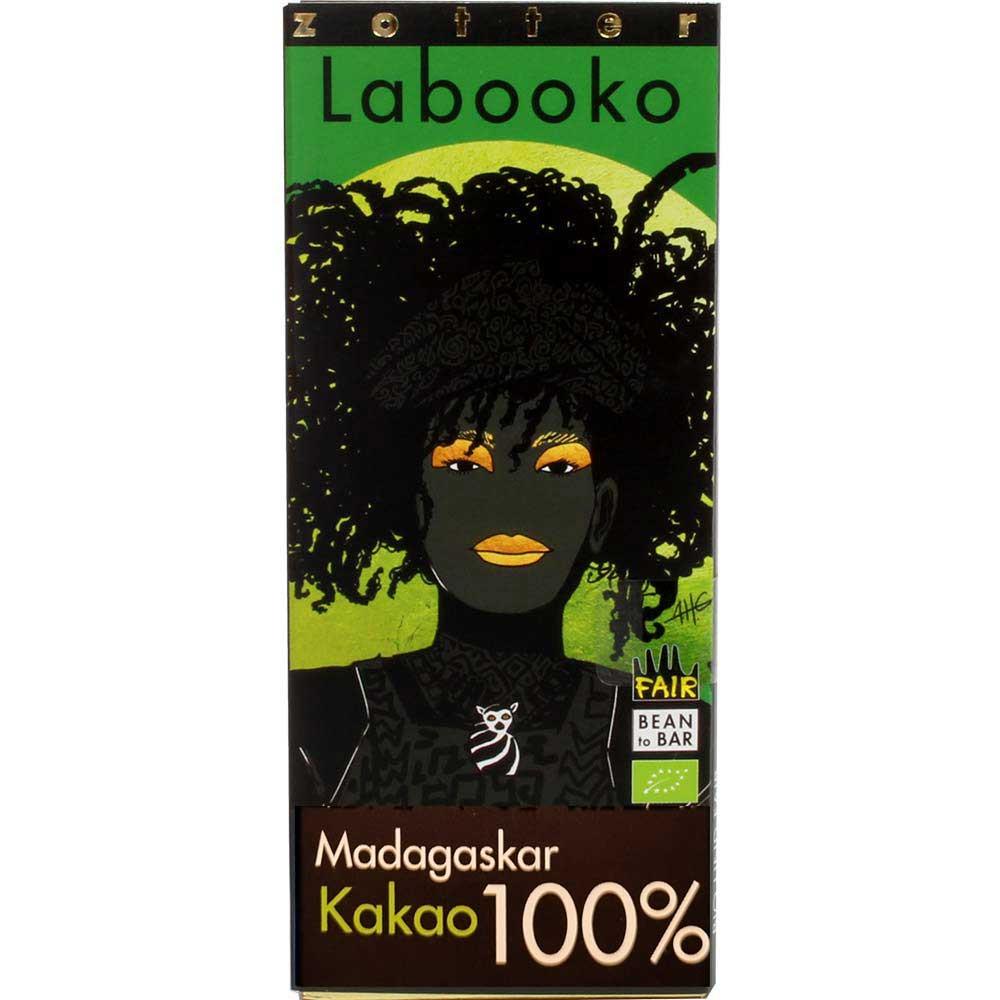 Labooko Madagascar 100% BIO chocolate - Bar of Chocolate, laktose free chocolate, sugar free chocolate, vegan chocolate, Austria, austrian chocolate - Chocolats-De-Luxe