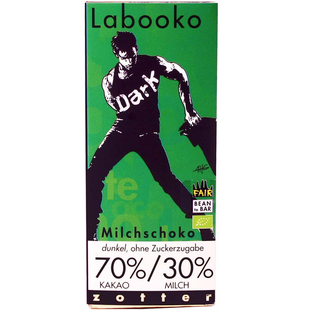 Labooko 70% / 30% chocolate negro con leche ecológico sin azúcar