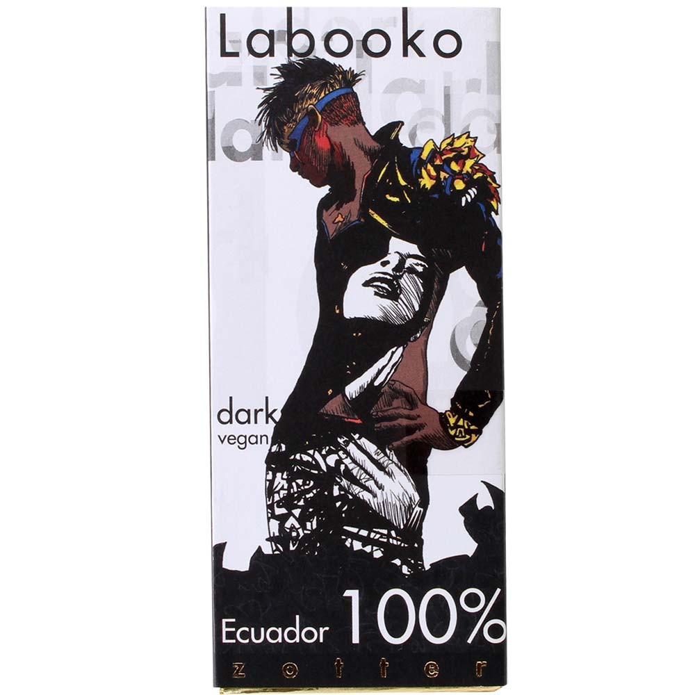 Chocolat Labooko 100% BIO d'Equateur - Tablette de chocolat, Chocolat ans protéines de lait, chocolat sans gluten, chocolat sans lactose, Chocolat sans sucre, chocolat végétalien, sans arômes artificiels / additifs, Autriche, chocolat autrichien, chocolat pur, sans ingrédients - Chocolats-De-Luxe