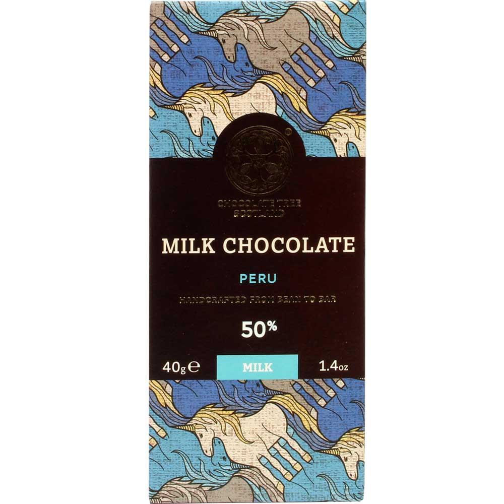 Milk Chocolate 50% cioccolato al latte dal Perù - Tavola di cioccolato, cioccolato senza lecitina, Scozia, Cioccolato scozzese - Chocolats-De-Luxe