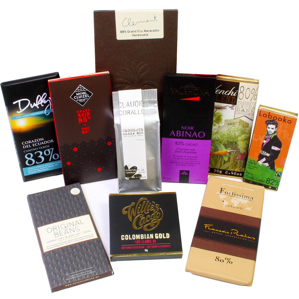 Bitterschokolade, Zartbitterschokolade, edelherbe Schokolade, dunkle Schokolade, dark chocolate, chocolat noir -  - Chocolats-De-Luxe