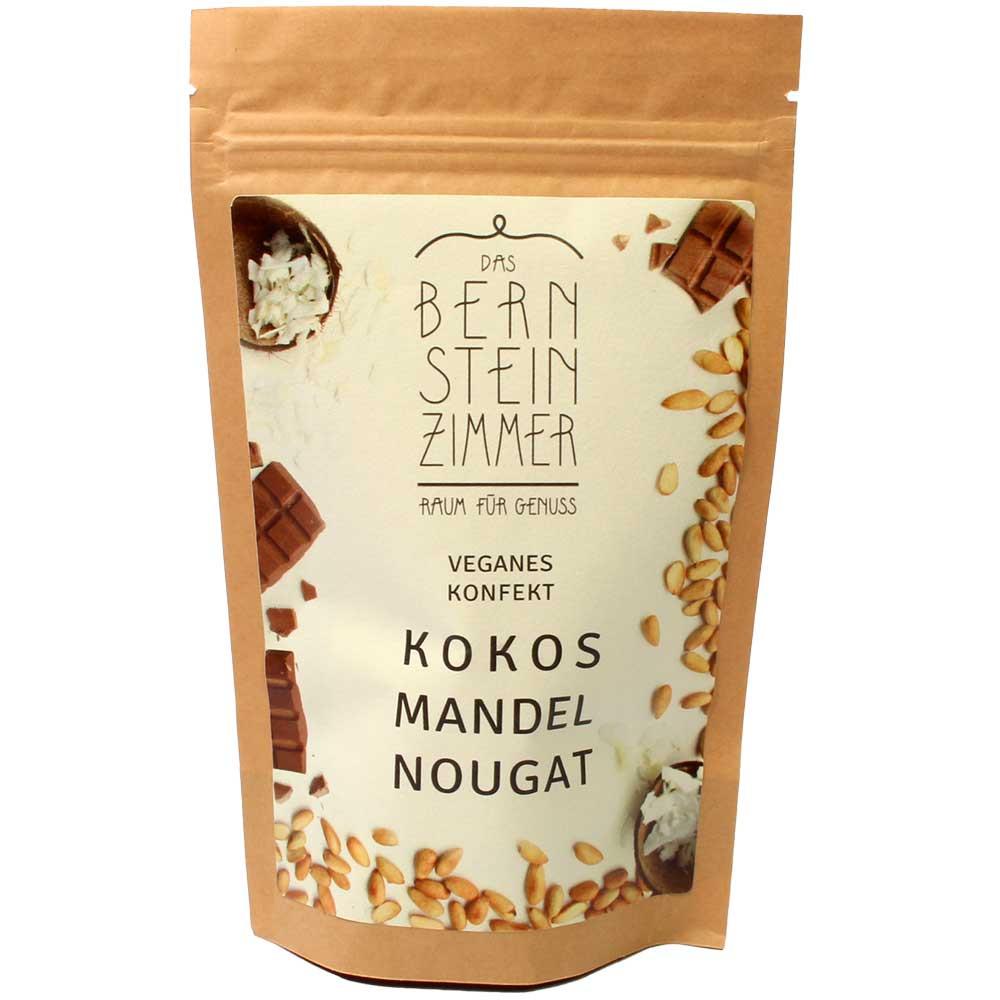 Kokos Mandel Nougat - veganes Konfekt in der Tüte - Bio - Confiserie, Pralines, chocolat végétalien, Allemagne, chocolat allemand, chocolat aux amandes - Chocolats-De-Luxe