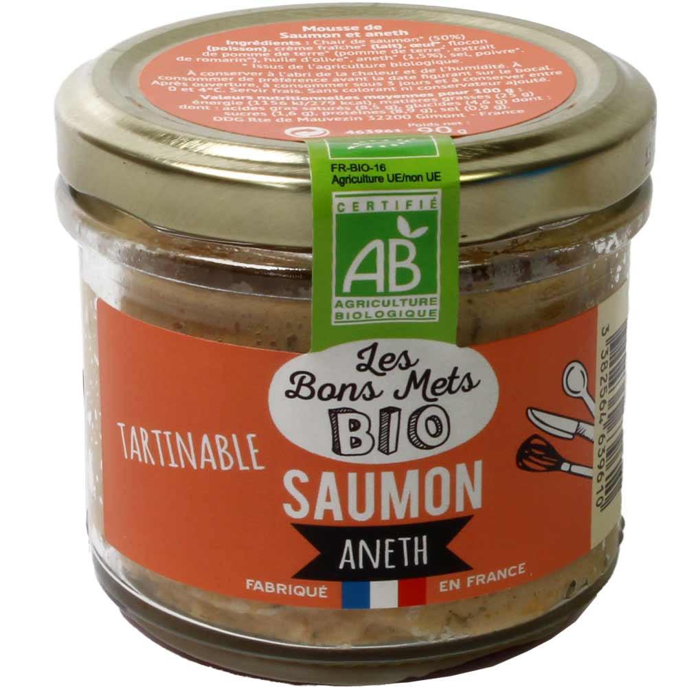 Tartinable Saumon Aneth BIO - Aufstrich mit Lachs und Dill -  - Chocolats-De-Luxe