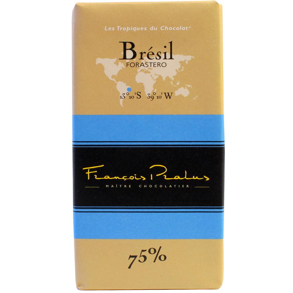 Pralus, Frankreich, dunkle Schokolade, Brasilien, Forastero, dark chocolate, chocolat noir - Tavola di cioccolato, Cioccolato senza alcol, Francia, cioccolato francese, Cioccolato con zucchero - Chocolats-De-Luxe