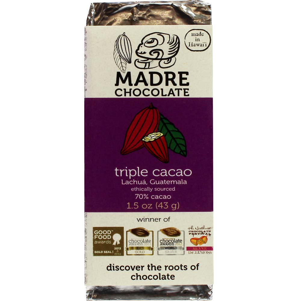 Triple Cacao Lachuá Guatemala 70% pure chocolade - $seoKeywords- Chocolats-De-Luxe