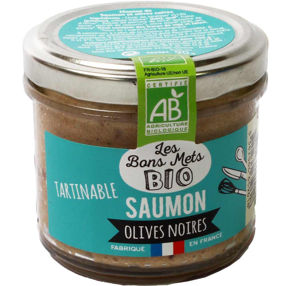 Tartinable Saumon Olives Noires BIO - Streichbare Mousse mit Lachs und schwarzen Oliven -  - Chocolats-De-Luxe